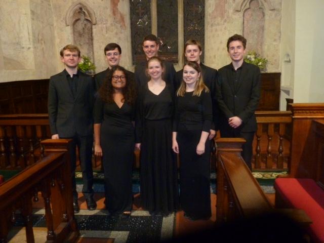 The talented performers at St John the Baptist, Kingston Lisle